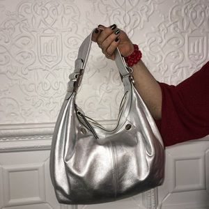 Roger Vivier Silver Leather Satchel